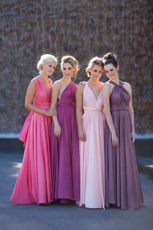 Платье для свидетельницы на свадьбу: цвет, фасон и фото подружек