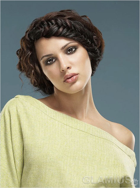 Плетеное обрамление лица