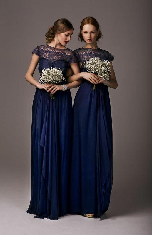 Синие платья для подружек невесты | bridetobride.ru