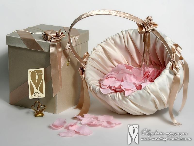 Свадебная коробка и корзина