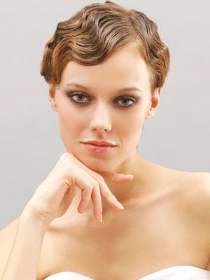 Свадебные прически на коротких волосах: стрижено-брито