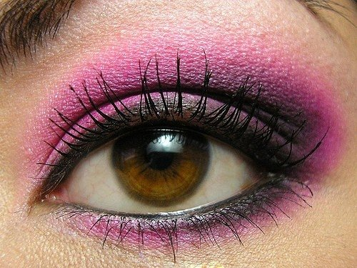 Цветовые варианты макияжей для карих глаз, фото