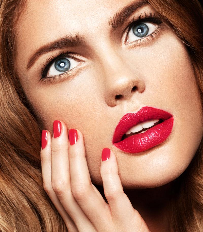 Весенний макияж с красной помадой: весна 2014