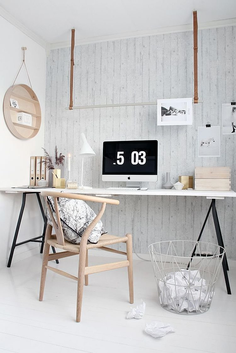 минимализм в домашнем офисе