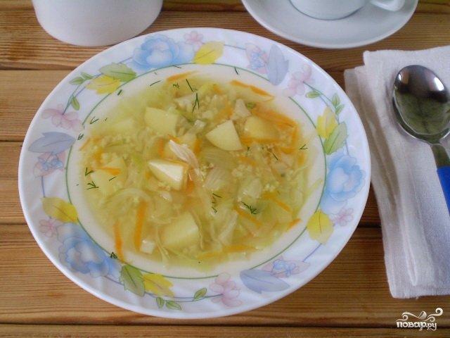 суп с капустой белокочанной