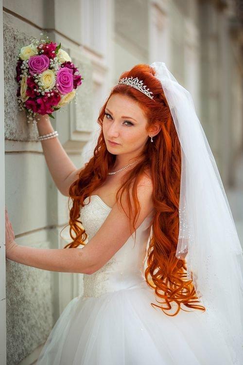 Фото рыжая невеста