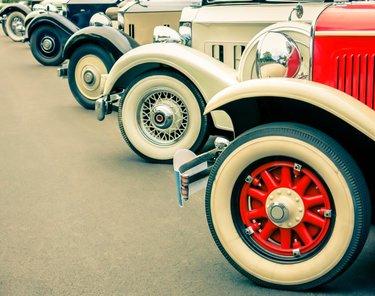 колесо ретро машины