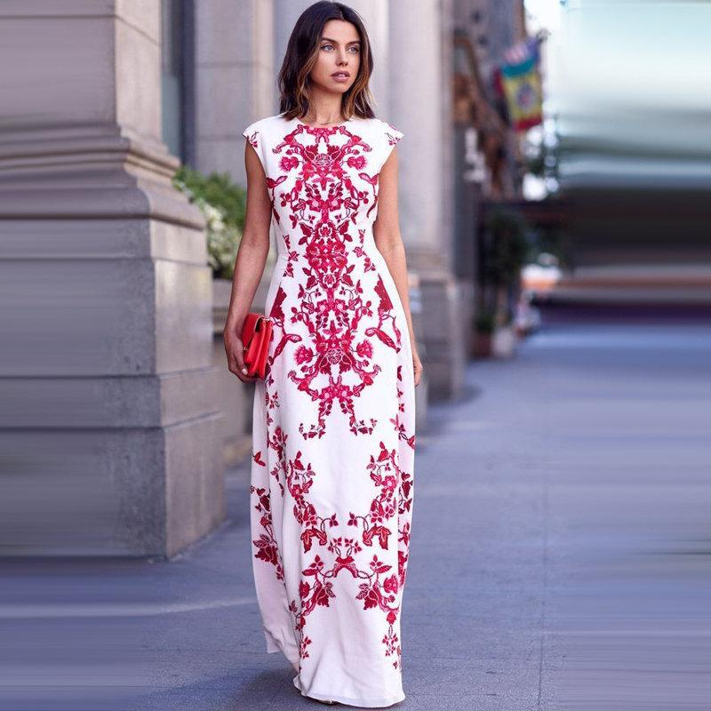 Платье с орнаментом рисунок