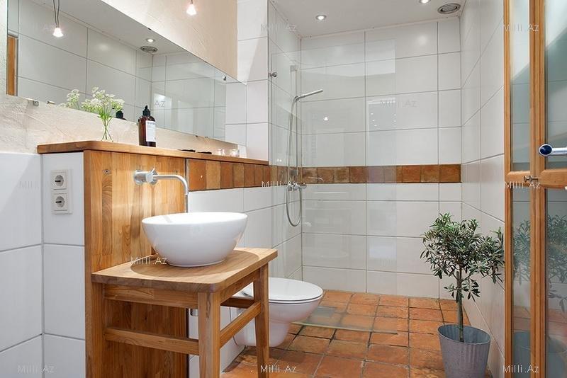 образом, получается, дизайн ванны в скандинавском современных материалов помогает
