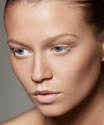 Основа макияжа для серых глаз