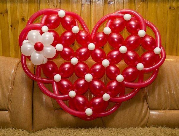 Сердце из шаров своими руками в картинках односельчанами женщина