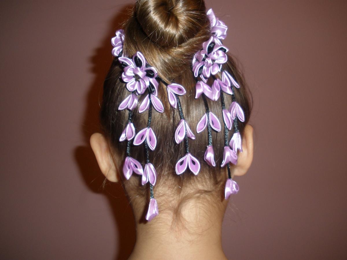 Изготовление красивых резиночек для волос с фото