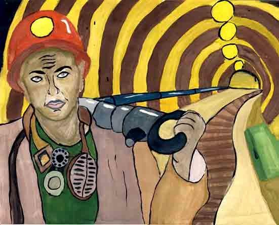 День шахтера рисунок детей, картинки