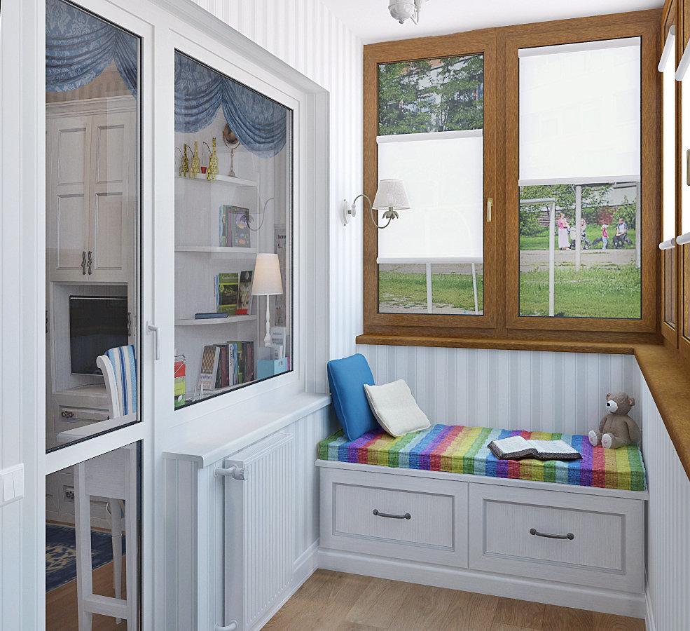 Детская комната на балконе - дизайн интерьера комнаты для де.
