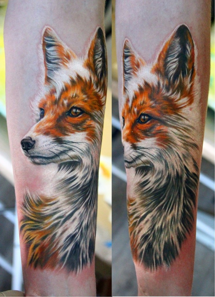 Картинки с татуировкой лисы, красивые