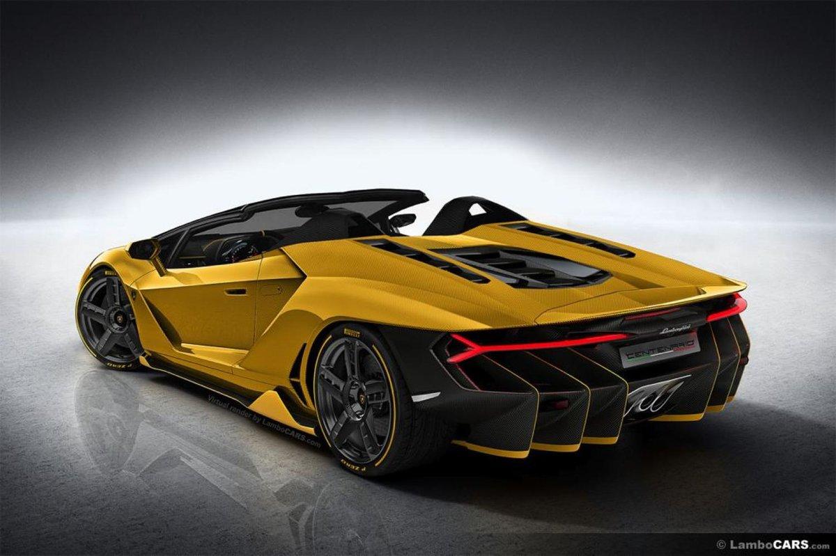 171 Lamborghini Centenario Roadster Lc Yellow Golden Желтый золотой родстер 187 карточка