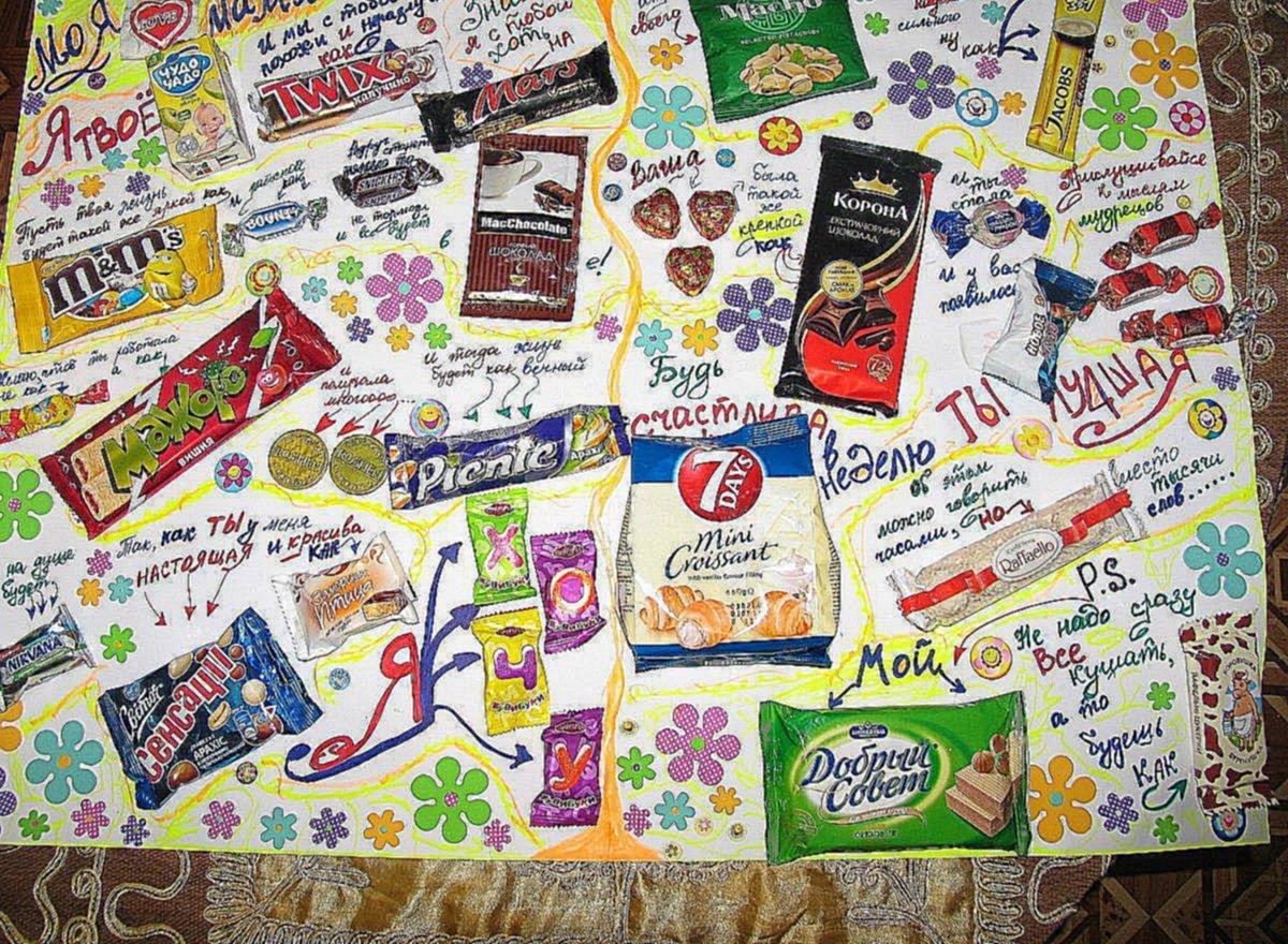 Картинки днем, поздравительная открытка с шоколадками своими руками