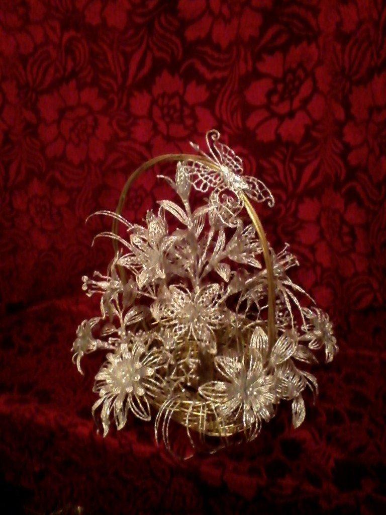 картины картинки цветок из фольги декор