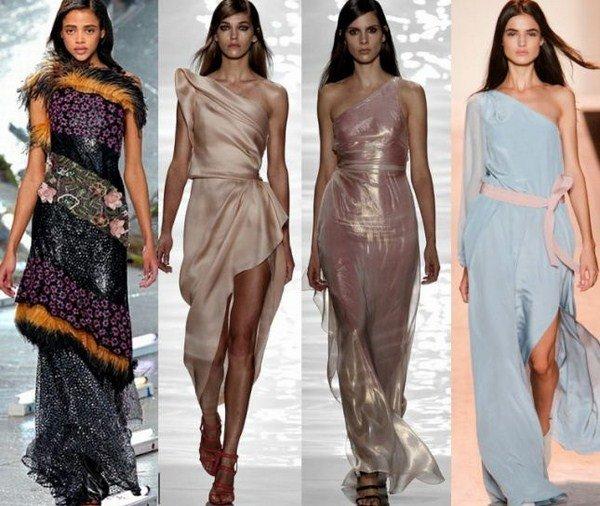 Красивые фасоны модные платья