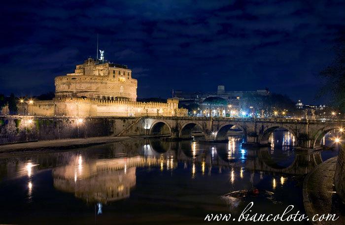 Замок и мост Святого Ангела, Рим, Италия
