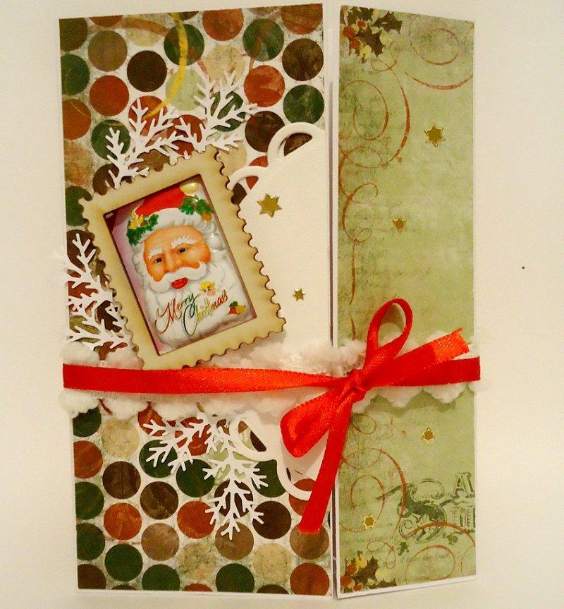 Новогодние открытке в скрапбукинге