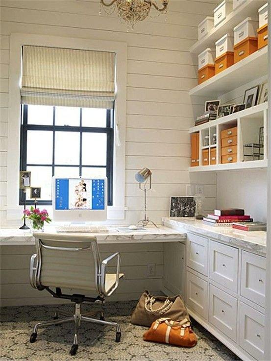 Дизайн домашнего кабинета - В белом оттенке