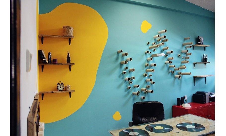вид креативная покраска стен фото нас найдете самые