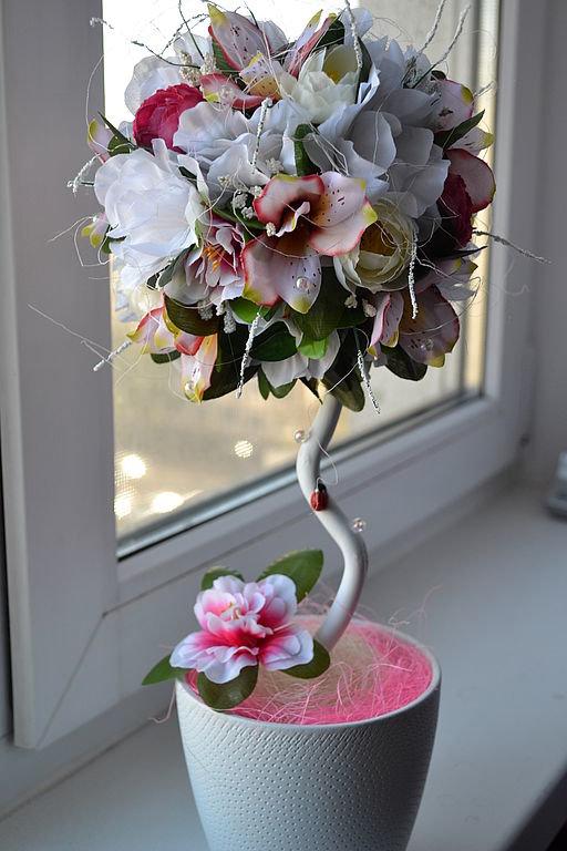 Деревья из цветов своими руками видео фото 384