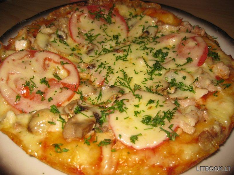 пицца в мультиварке рецепты с пошаговым фото