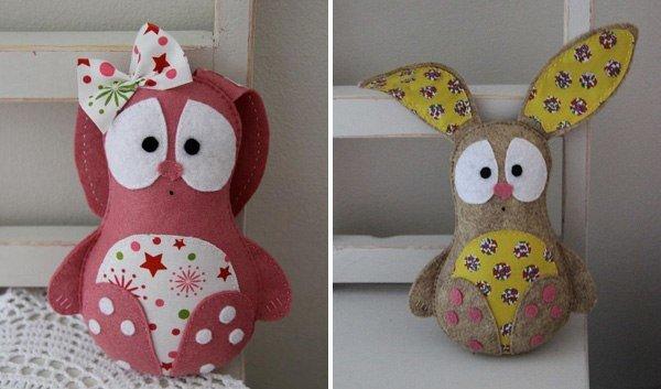 Мягкие игрушки своими руками из ткани выкройки для детей фото 148