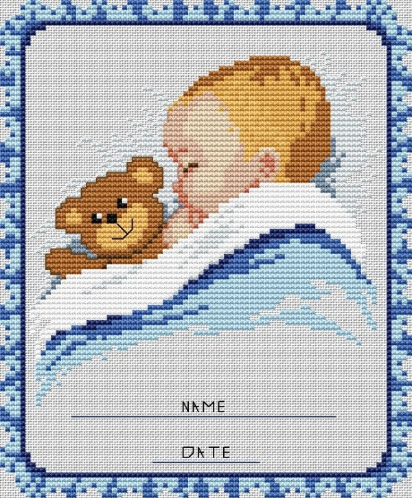 Маленькие вышивки крестом малыш