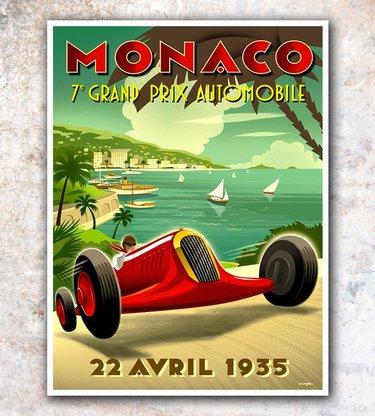 монако винтажные постеры