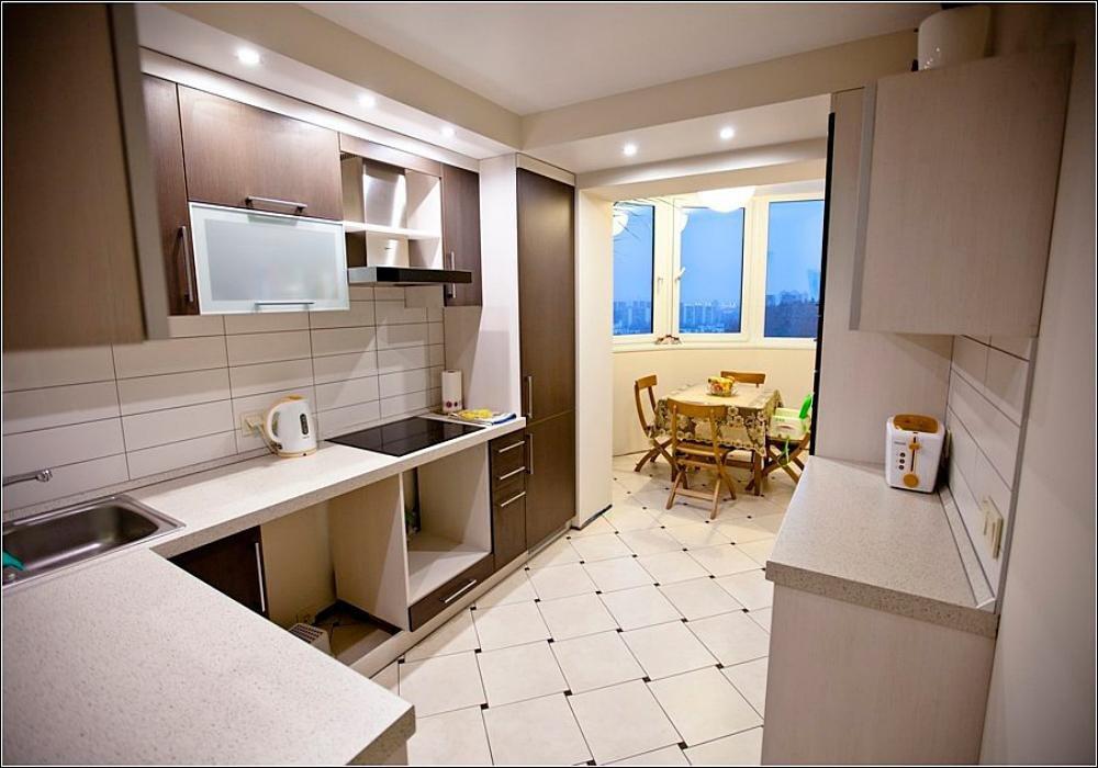 Как балкон совместить с кухней.