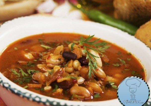 Фасолевый суп с копченостями рецепт с фото