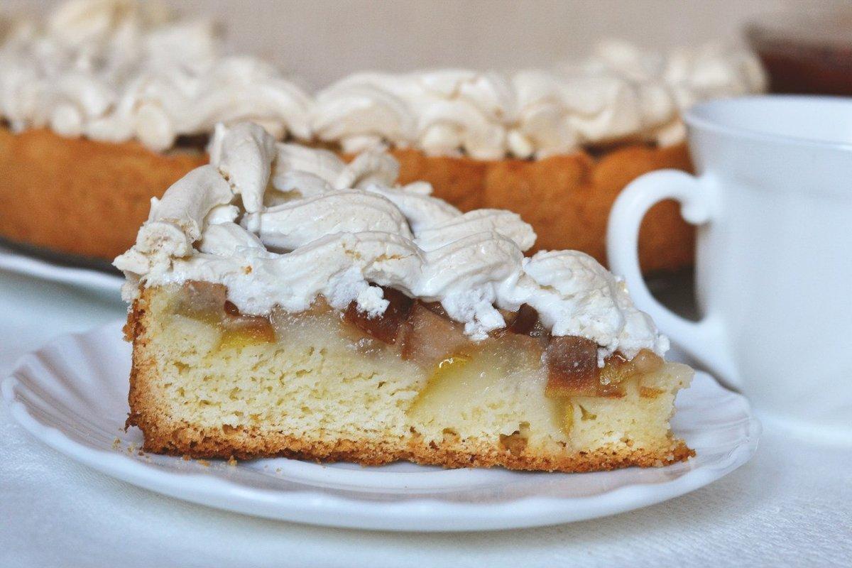 Пирог с малиной и меренгой безе  пошаговый рецепт с