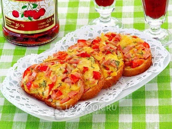 Бутерброды праздничный стол фото рецепты горячие