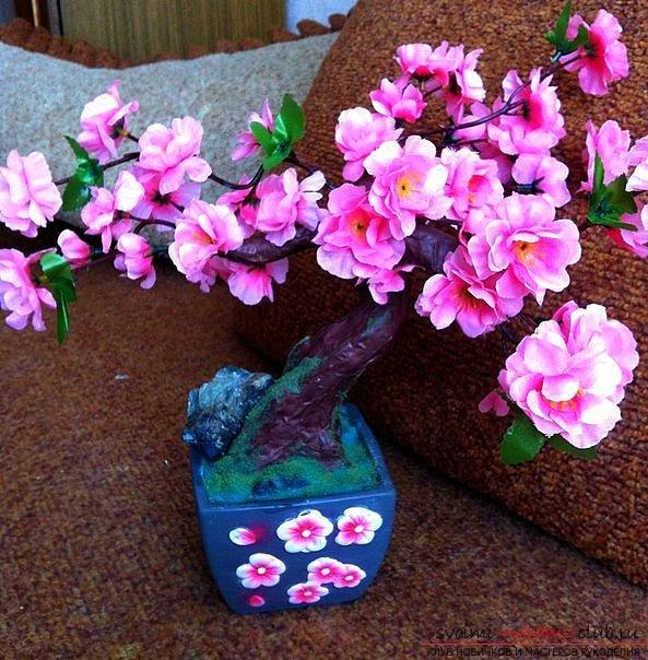 Интерьерное украшение: сакура, поделки своими руками