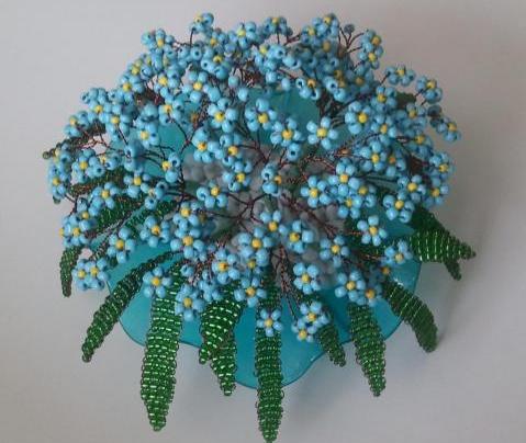 Фиалки из бисера своими руками схемы плетения