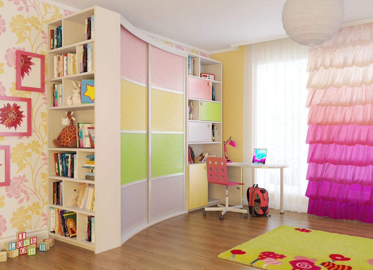 """Шкаф-купе радиусный для детской комнаты."""" - карточка пользов."""
