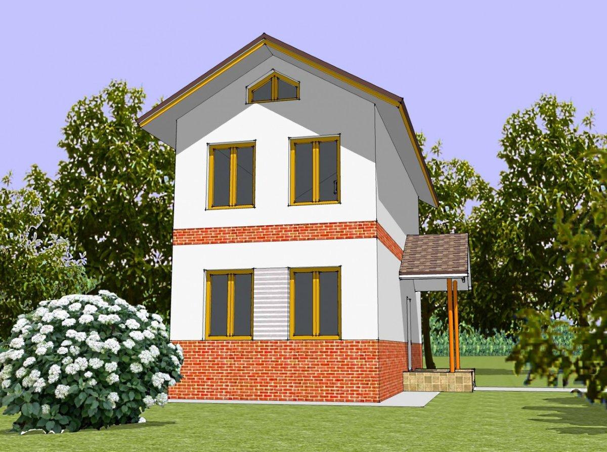 помощью этого проект небольшого узкого дома Классицисты