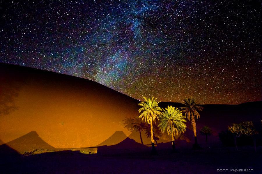 Фото ночного неба в сахаре