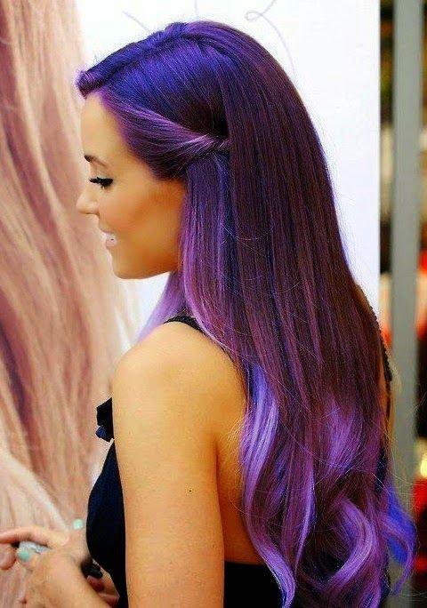 Фиолетовый цвет волосы