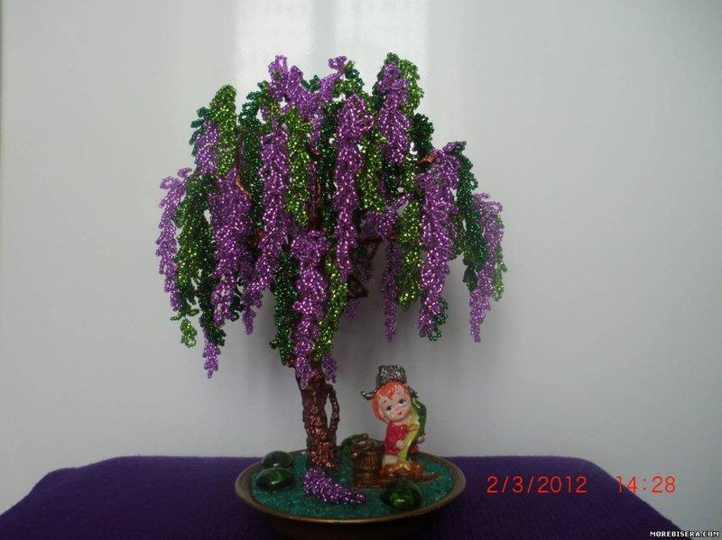 растения из бисера мастер класс с пошаговым фото