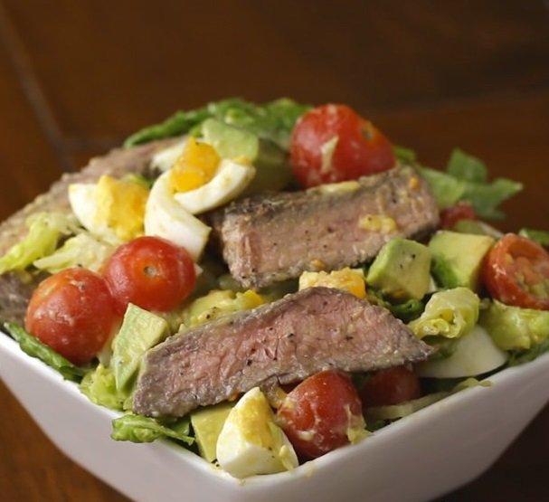 мясной салат с говядиной пошаговый рецепт с фото