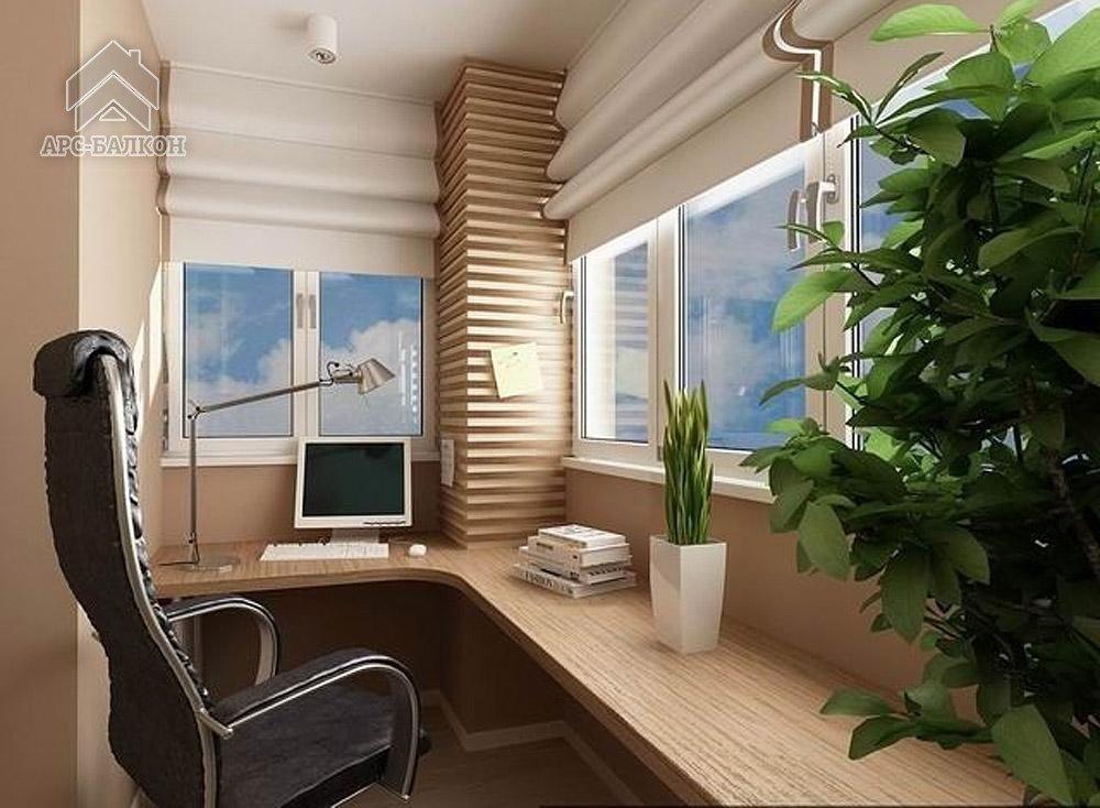Рабочие кабинеты на балконах и лоджиях. фото и видео реальны.