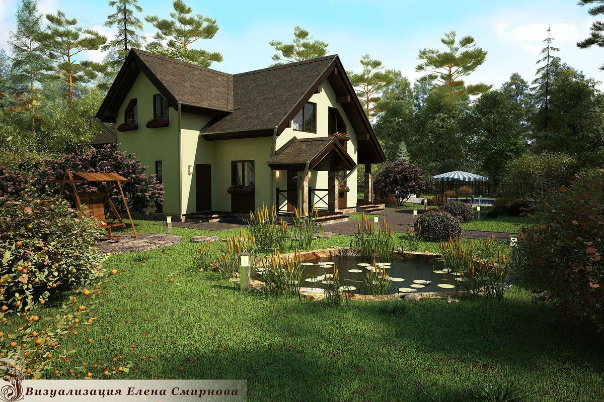 Картинка дома садового участка