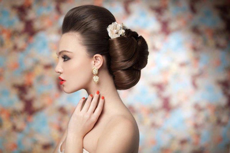 модные свадебные прически и макияж