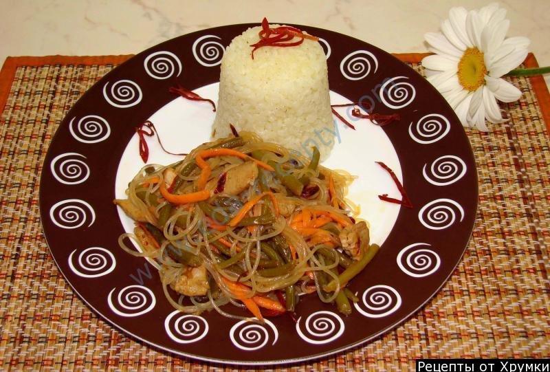 Как приготовить салат с фунчозой с фото пошагово по китайски