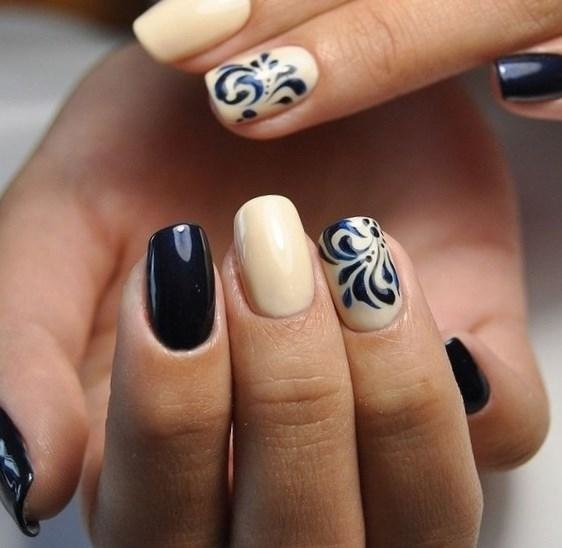 фото маникюр на коротких ногтях с рисунком