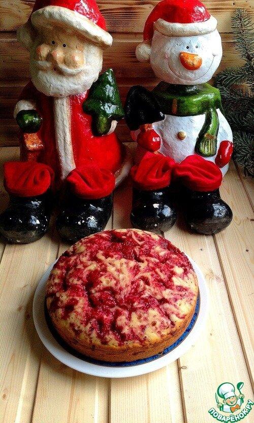 Двойной пирог с ягодами и орехами - кулинарный рецепт